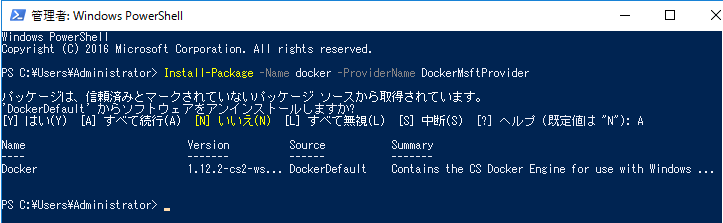 Install Docker on Windows PowerShell